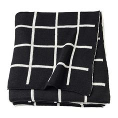 IKEA - LOHALS, Rug, flatwoven, Jute is a durable and recyclable material with natural color variations. Warm Blankets, Throw Blankets, Lohals, Black Blanket, Ikea Shopping, King Sheets, Bed Sheets, Houses, Black White