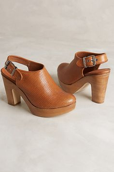 Strena Perforated Atlantic Mules - anthropologie.com
