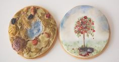 Lovely hand-painted cookies
