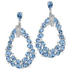 Diamond Hoop Earrings, Dangle Earrings, High Jewelry, Jewelry Collection, Piercing, Jewelery, Crochet Necklace, Dangles, Jewelry Watches