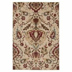 Bring classic appeal to your foyer or anchor your dining table in elegant style with this loomed rug, showcasing a traditional floral motif.   Product: RugConstruction Material: WoolColor: Beige, burgundy, mocha, slate and oliveFeatures: Power-loomedNote: Please be aware that actual colors may vary from those shown on your screen. Accent rugs may also not show the entire pattern that the corresponding area rugs have.