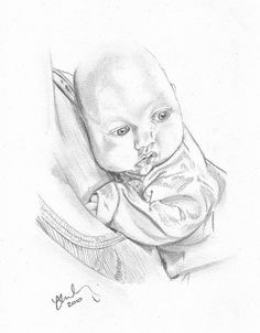 A sketch of my son Jacob when he was only a baby and just a few months old. Drawn here being carried by his mum. So full of character even this young.