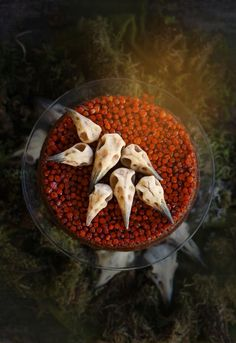 Rowan Upside Down Cake With Edible Raven Skulls Halloween Food For Party, Halloween Treats, Low Fat Vegan Recipes, Fancy Cakes, Casserole Recipes, Fall Recipes, Cupcake Cakes, Cake Decorating, Food Photography