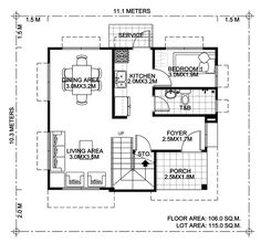 House design plans with 4 bedrooms - House Plan Map Bungalow Floor Plans, Modern Bungalow House, House Floor Plans, 2 Story House Design, Two Storey House Plans, Courtyard House Plans, Modern Courtyard, Affordable House Plans, Beautiful House Plans