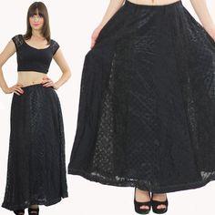 Boho Maxi skirt Hippie Skirt Patchwork skirt by SHABBYBABEVINTAGE, $45.00