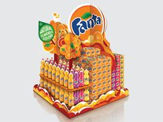Showcase and discover creative work on the world's leading online platform for creative industries. Pallet Display, Pos Display, Display Design, Pos Design, Retail Design, Stand Design, Interactive Web Design, Fanta, Fruit Stands