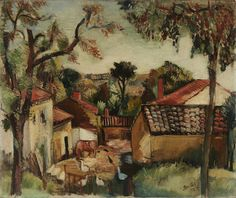 JEAN DUFY (1888-1964) Cour de ferme 23 1/4 x 27 7/8 in (59.2 x 70.8 cm) (Painted in 1922)