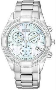 Citizen Women's Eco-Drive Regent Chronograph Mother of Pearl with Diamonds see how much PHW can save you!