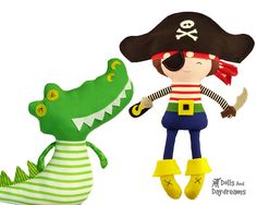 Pirate Sewing PDF Pattern Digital Instant by DollsAndDaydreams