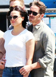 Lana & Sean on set (July 17, 2015)
