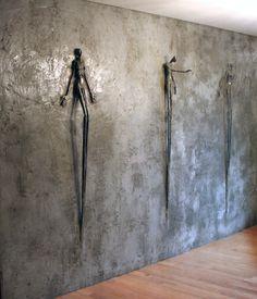 Marie-Josée Roy/La Bénédiction, 8 feets x 13 feets, concrete/steel. private collection/