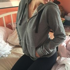 BDG gray zip up sweatshirt Super soft and thick gray sweatshirt from urban outfitters. Incredibly warm and comfy! Size L but fits more like a medium. BDG Tops Sweatshirts & Hoodies
