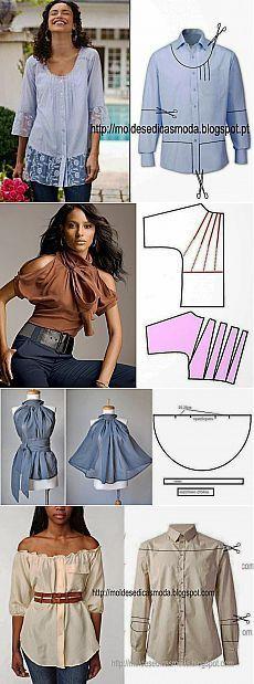 patrones e ideas alteraciones de ropa gratis - una enorme selección (un montón de fotos)
