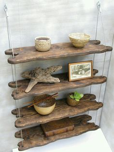 Beautiful driftwood shelves