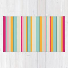 Candy Stripe Retro Area Rug 2x3 Retro Stripe by ThingsThatSing