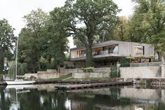 Park Cafe, Francis Kere, Lakeside Terrace, Sustainable Building Materials, Farnsworth House, Haus Am See, Long Lake, Passive House, Homemade Ice Cream