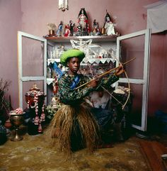 # Santeria pratictioner (Cuba, 1996) @  Photo by Phyllis Galembo
