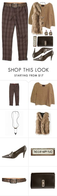 """Faux Fur Vest"" by grozdana-v ❤ liked on Polyvore featuring J Brand, St. John, Vero Moda, Sergio Rossi, Poncho & Goldstein, s.pa accessoires, Proenza Schouler, women's clothing, women's fashion and women"