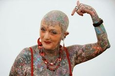 Top 10 Tattoo fanatics have become more acknowledged in the past decade. These fanatic really like their tattoos and are no stranger to the needle. 10 Tattoo, Tattoo Shows, Tattoo Quotes, Sexy Tattoos, Tattoos For Women, Cool Tattoos, Craziest Tattoos, Face Tattoos, Tattoo Women