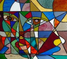 rostro Mosaic Art, Mosaic Tiles, Abstract Pictures, Arte Pop, Tiffany Glass, Collage Art, Art Lessons, Stained Glass, Pop Art