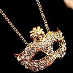 Cute Mardi Gras Mask necklace