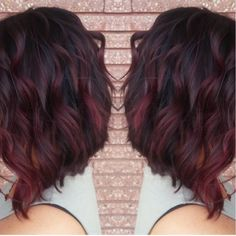 Burgundy ombre... Love the color.