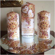 Gold And Pink Themed Wedding Gift #mehndi #henna #7na #7enna #HennaArt