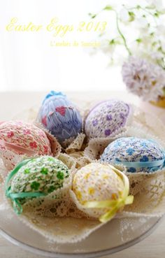 Smocked Easter Eggs 2013 by L'atelier de Smocks♡