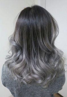 "14 attraktive Bilder zu ""grauer ombre"" | Hair coloring, Hair colors ..."