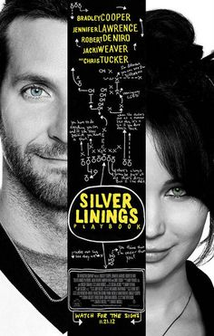 Silver Linings Playbook Cooper and Lawrence Movie Poster 11x17