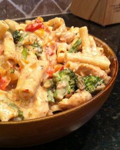 Confetti Chicken Pasta Recipe I would substitute the broccoli & asparagus! But this sounds yummy!