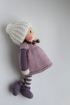 Reserved for Natasja. Waldorf doll Waldorf knitted doll