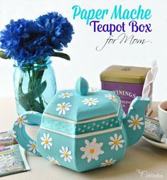 Stuck on a gift for Mom? Why not go for an adorable paper mache teapot?