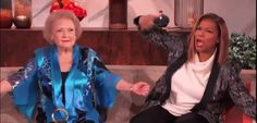Betty White honors Queen Latifah by dramatically reading her lyrics