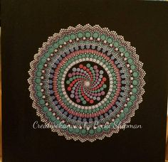 Hand painted dot mandala.  Perfect gift for her or him