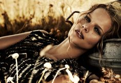 Marloes Horst takes to Africa for Will Davidson's romantic images featured in the March edition of Harper's Bazaar Australia. Garbed in drapey and sheer pieces selected by fashion editor Jillian Davison, Marloes takes in the picturesque landscape with her companion in the designs of Haider Ackermann, Calvin Klein, Max Mara and Gucci