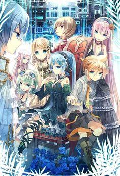 Vocaloid - Kaito, Ia, Kagamine Rin, Meiko, Megurine Luka, Gumi, Miku, Kagamine Len