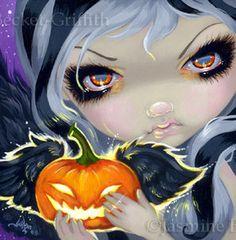 Jasmine Becket Griffith Art Halloween Pumpkin