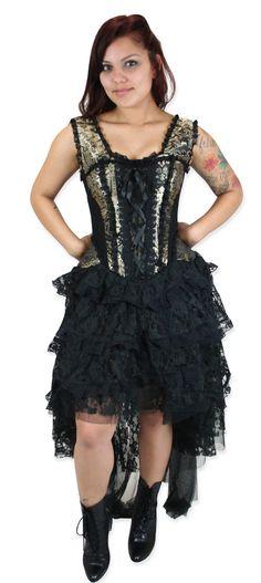 Cassandra+Dress+-+Black+and+Gold
