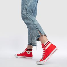 d9357c942 Converse red all star 80s cuffed trainers. Chuck TaylorsHigh Top Sneakers