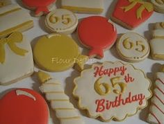 Cream, Gold and Red 65th birthday...very sophisticated