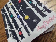 DIY Lino Block Print Christmas Cards. Pin for next year!