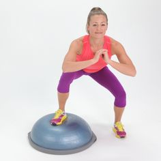 The BOSU ball isn't glamorous, but the gym staple sure is effective. It can make even the simplest exercises more difficult by adding a balancing aspect to your workout. Ready to accept the challenge? Read on for 10 ways to incorporate the BOSU ball into Pole Fitness, Fitness Tips, Fitness Motivation, Health Fitness, Cycling Motivation, Fitness Quotes, Bosu Workout, Boot Camp Workout, Cycling Workout