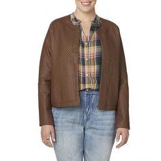 Simply Emma Womens Plus Moto Jacket Carafe Zip Front size 1X NEW   29.99 https://www.ebay.com/itm/253289015606
