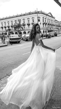 julie vino fall 2018 havana off the shoulder deep plunging sweetheart neckline heavily embellished bodice double slit skirt romantic sexy soft a  line wedding dress sweep train (16) bv -- Julie Vino Fall 2018 Wedding Dresses