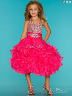 Wholesale Lovely Birthday dress Sugar Cupcake Rhinestone Covered Glitz Pageant Dress, Free shipping, $76.16