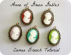 Anne of Green Gables Cameo Brooch Tutorial