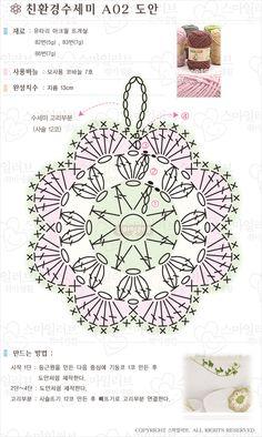 Crochet Potholder Patterns, Crochet Motifs, Crochet Flower Patterns, Crochet Diagram, Crochet Doilies, Crochet Flowers, Crochet Lace, Crochet Stitches, Crochet Crafts