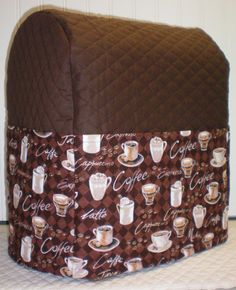 Check out this item in my Etsy shop https://www.etsy.com/listing/225784251/chocolate-brown-quilted-coffee-cover-for