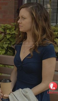 Ingrid�s blue knot front dress on Witches of East End.  Outfit Details: http://wornontv.net/23640/ #WitchesofEastEnd